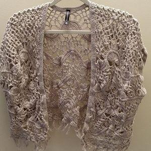 Massini 100% Cotton Crochet Shrug